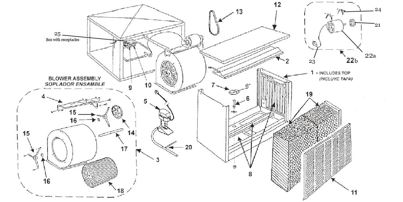 Mastercool Specifications Wiring Data Diagrams Motor Diagram Aerocool Trophy Series Td6800 1 Parts Breakdown List Rh Indoorcomfortsupply Com Pump